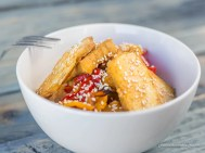 Rice Bowl: Spicy Sesame Soy, w/local tofu
