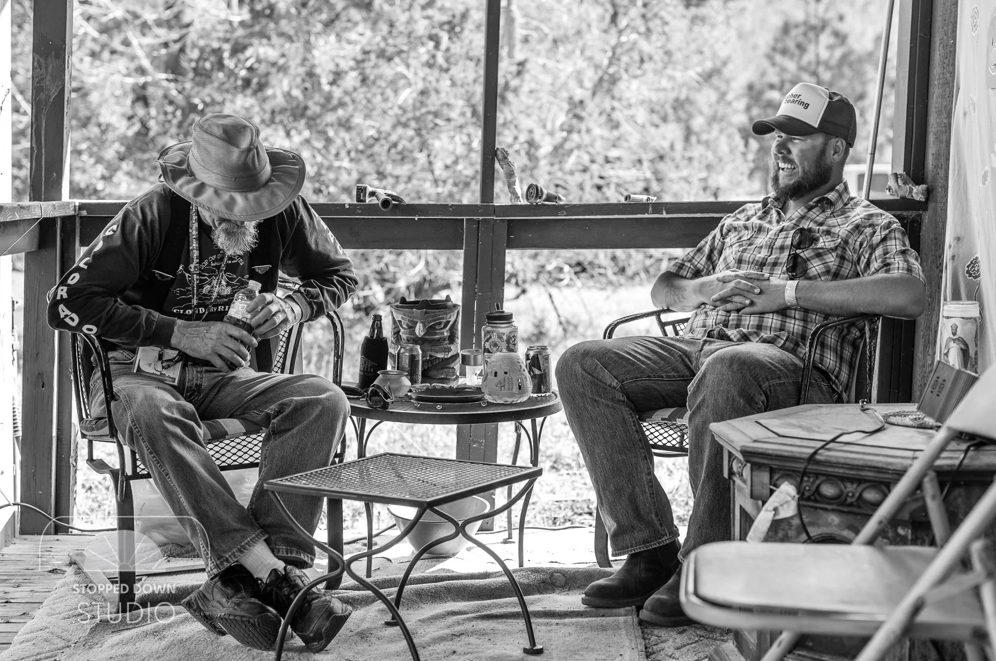 Road to Rich's: Catching up on the porch