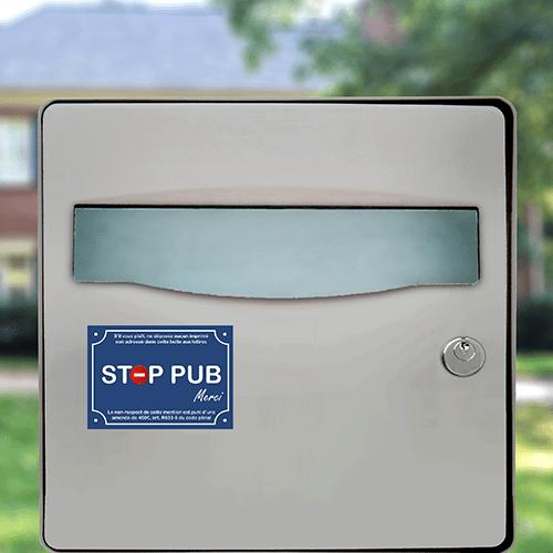 sticker stop pub signaletique