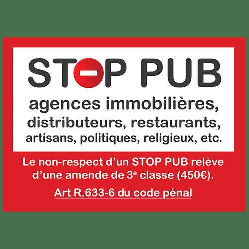 stop pub rappel de loi