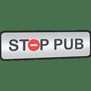 Mini STOP PUB argenté