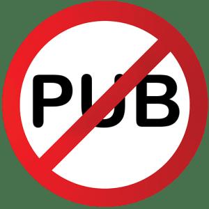 STOP PUB Rond barré