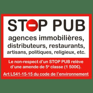 STOP PUB «rappel de la loi»