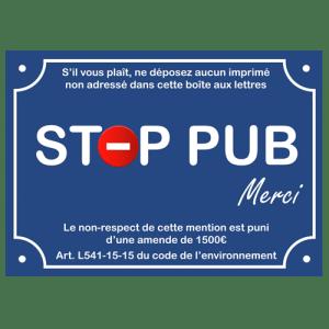 STOP PUB «signalétique»