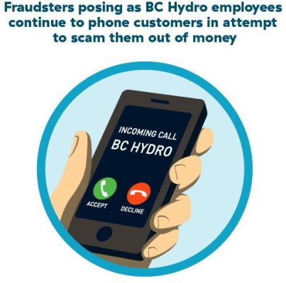 Fraudsters posing as BCHydro