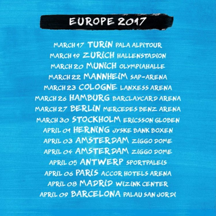 Ed Sheeran - Tour Dates