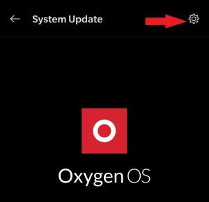 Click Gear Icon - OnePlus
