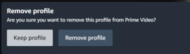 Remove Profile Confirmation - Amazon Prime Video
