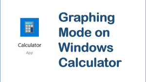 Windows Calculator - Graphing Mode