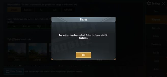 New Frame Rates Applied - PUBG Mobile