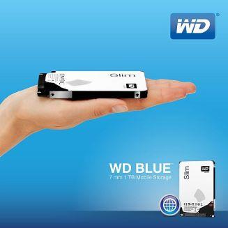 WD Blue Slim L'hard disk da 1TB più sottile al mondo 7mm di spessore per gli ultrabook e i computer portatili più sottili e leggeri