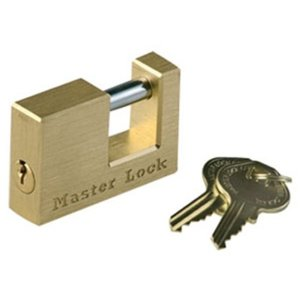 secure brass coupler lock for self storage tenants