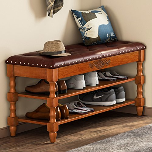Sensational Tribesigns Shoe Bench Solid Wood Storage Bench Entryway Ncnpc Chair Design For Home Ncnpcorg