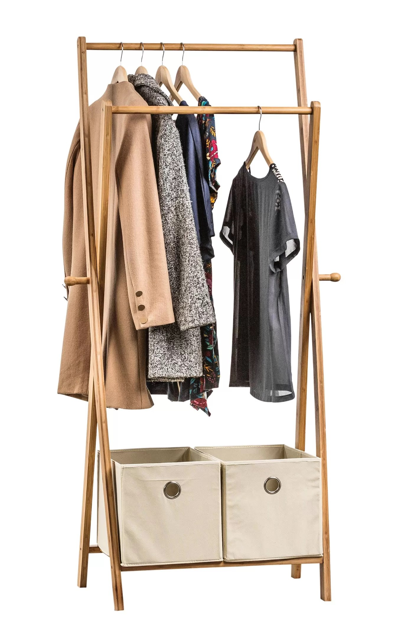 Garment Rack With Drawers From Storage Box