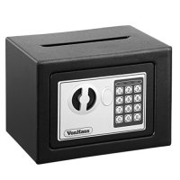 VonHaus Mini Compact Electronic Digital Home and Personal Security Solid Steel Safe with Keypad Lock, Cash Drop and Envelope Posting Slot - 6.3lbs