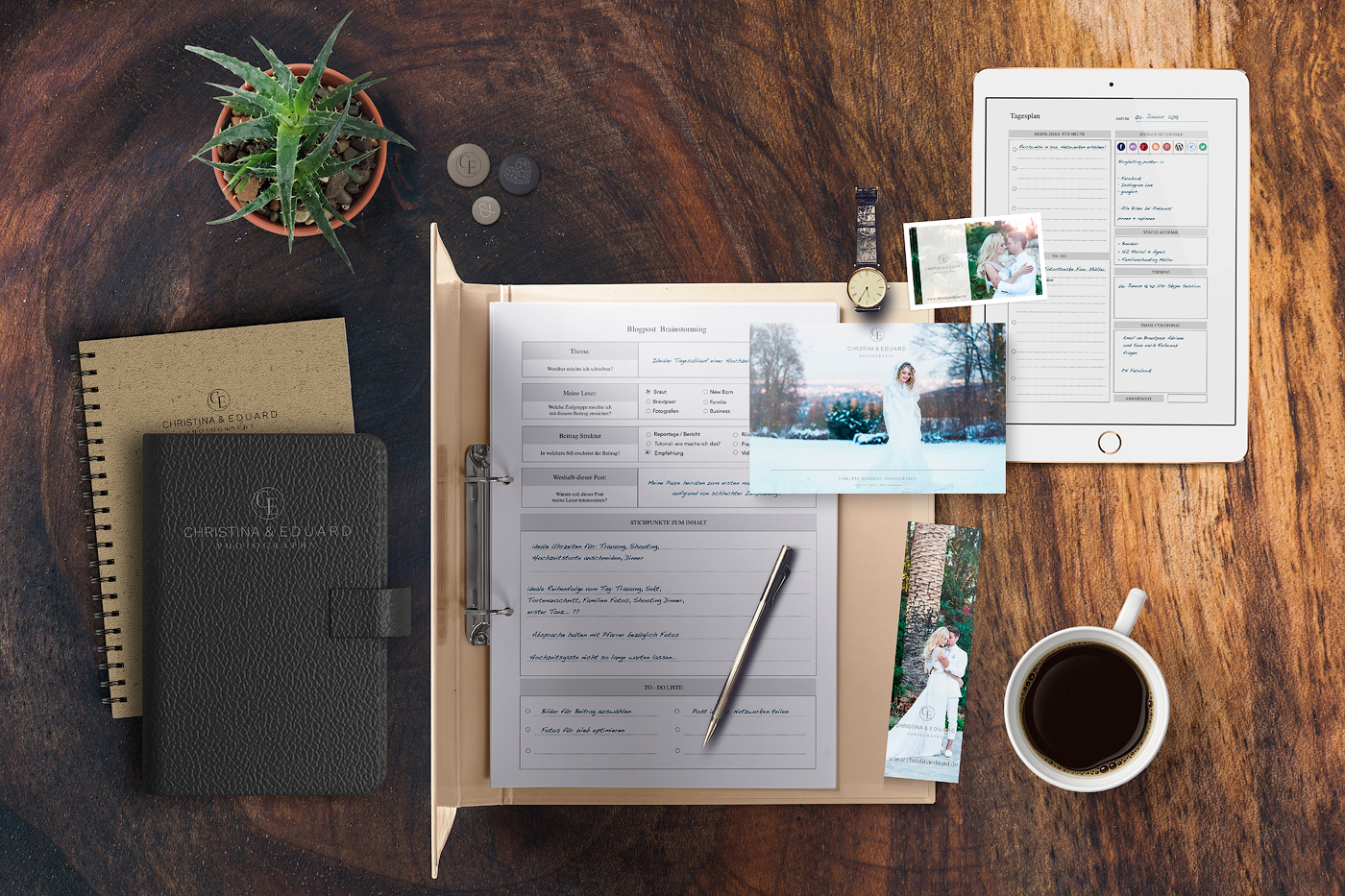 Business- und Zeitplaner für Fotografen
