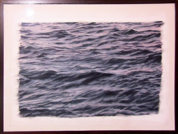 Original painting by Clifford Smith. Study of Grey Ocean Field