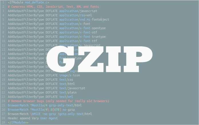 Come abilitiamo la compressione GZIP sul nostro sito web?
