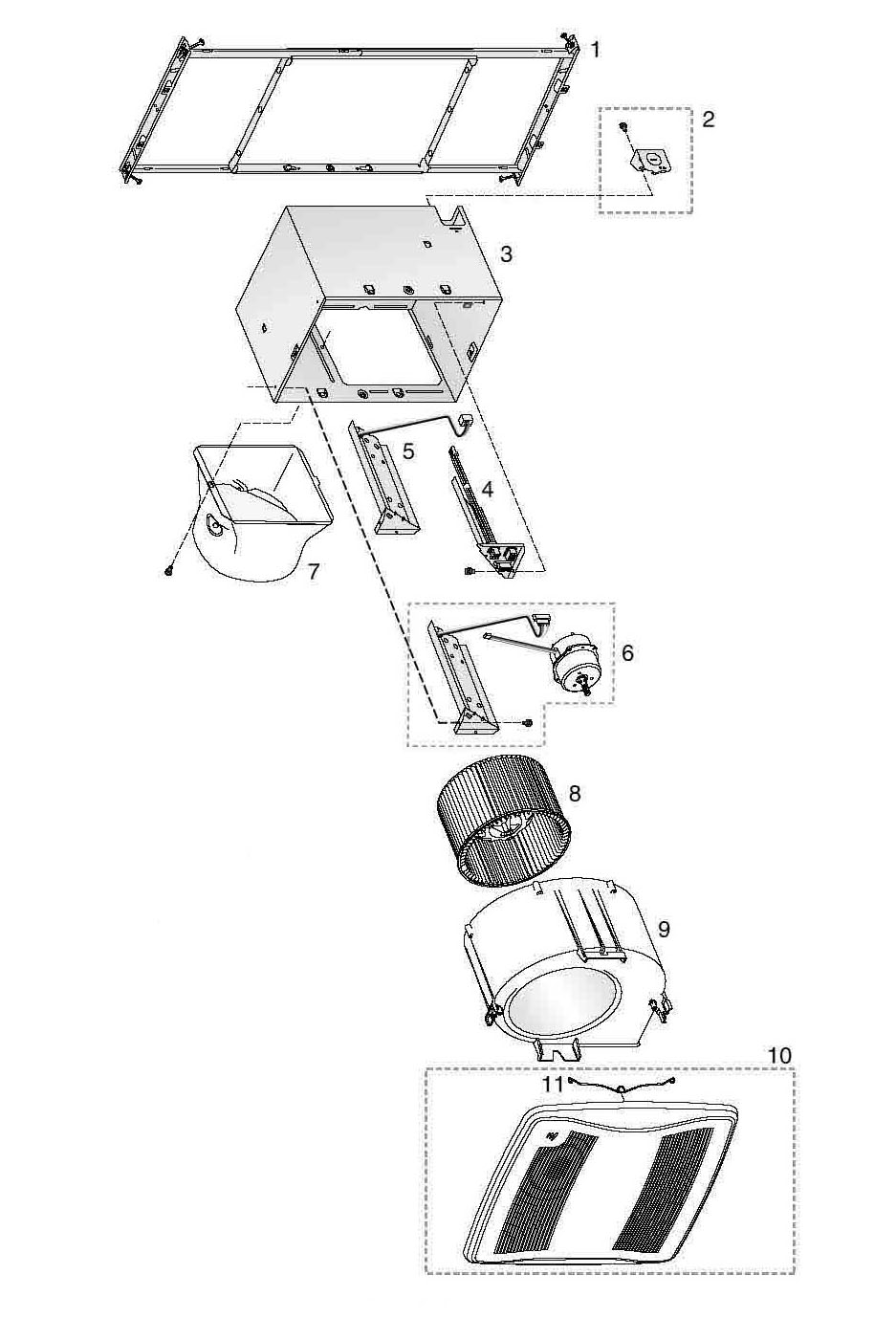Nautilus N655 Bathroom Fans Parts