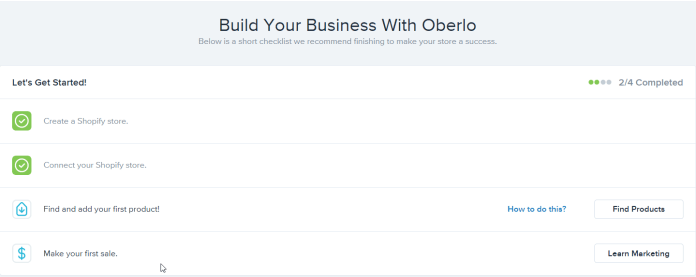 Oberlo review steps to start selling