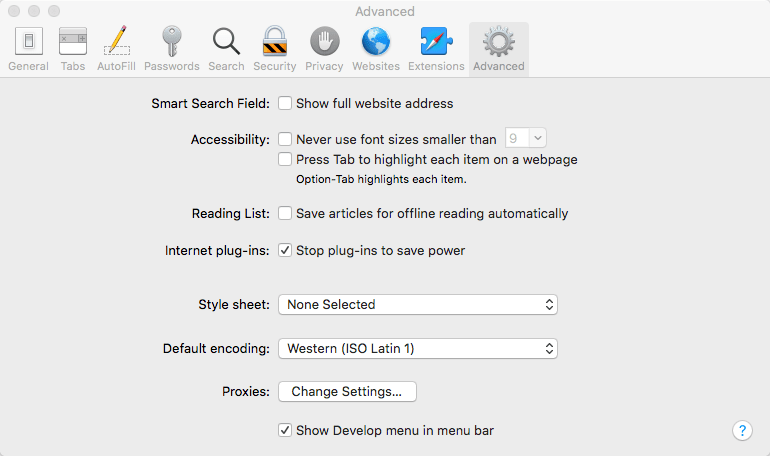 Safari Turn On Dev Tools