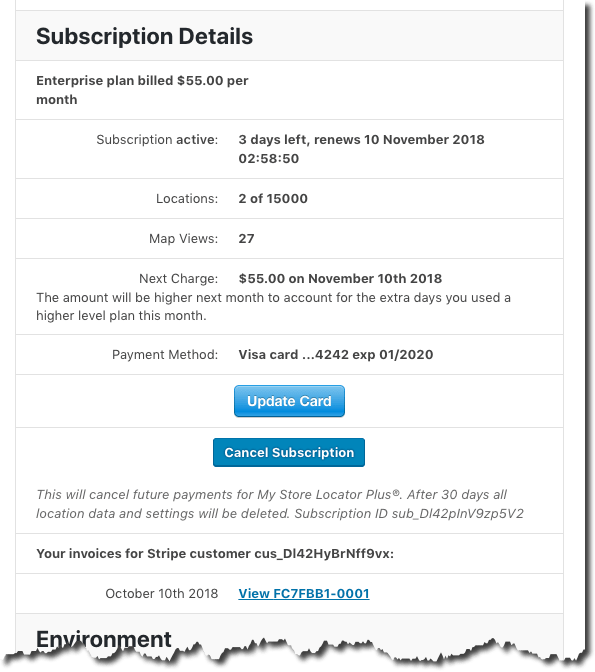 MySLP Subscription Details