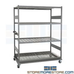 Bulk Rack Storage Carts For Plywood Decking Rolling Carts