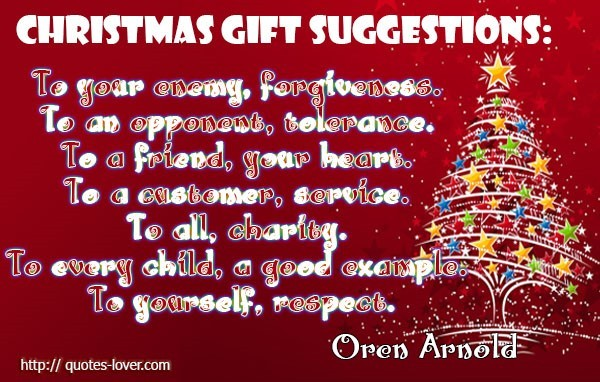 Christmas Gift Suggestions To Your Oneway Forgiveness To