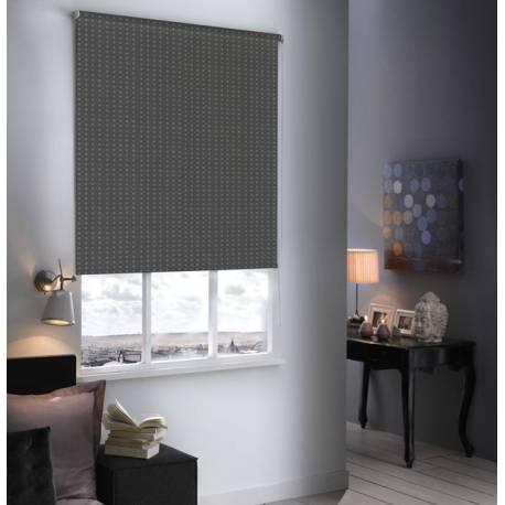 store enrouleur occultant design gris metal