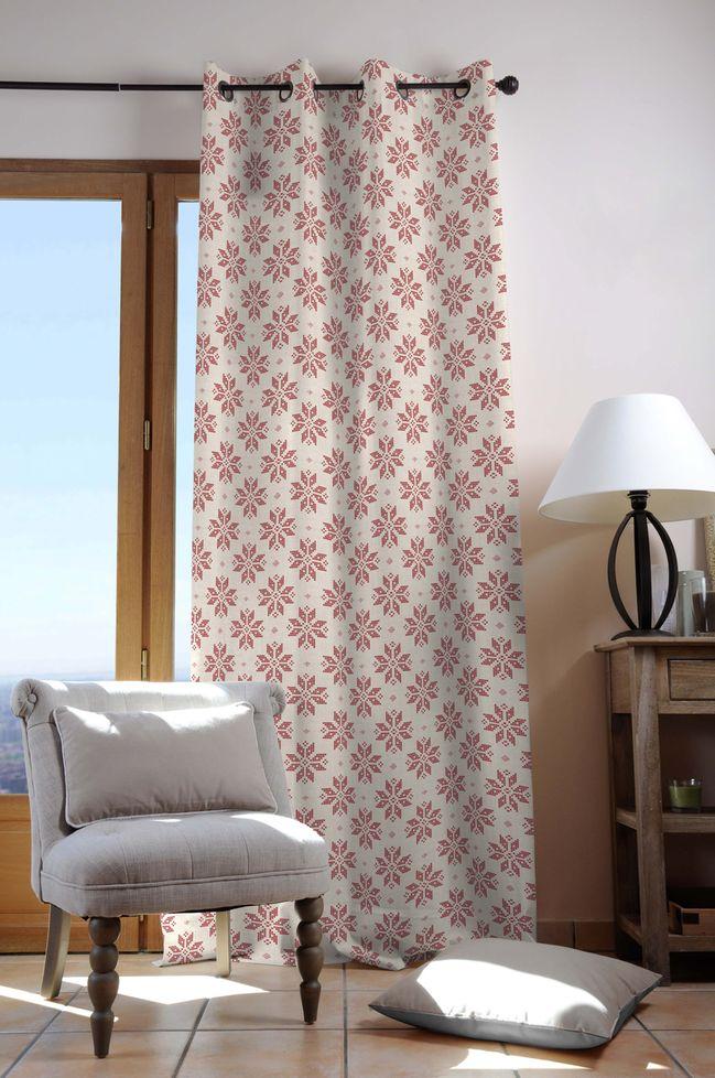 rideaux chalet motif montagne