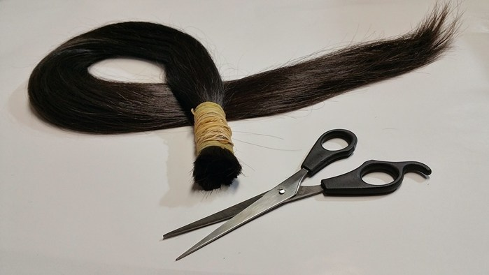 Echthaar abgeschnittene Haare Haarspende Haarausfall