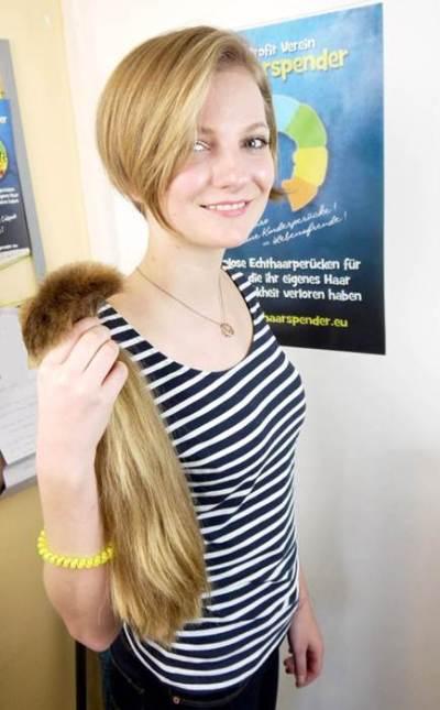 Die Haarspender Haare Zopf ab Haare schneiden