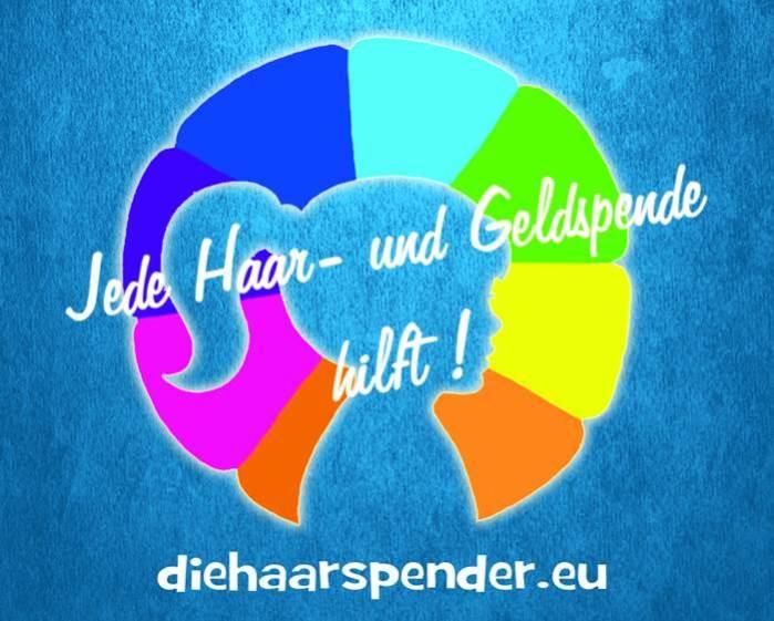 Die Haarspender Logo mit URL