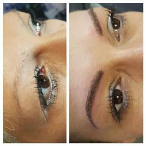 Microblading Augenbrauen Schöheit Alopecia