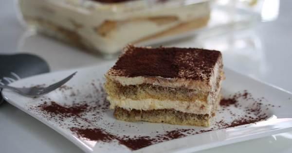 Tiramisu mit Orangengeschmack Dessert Nachspeise