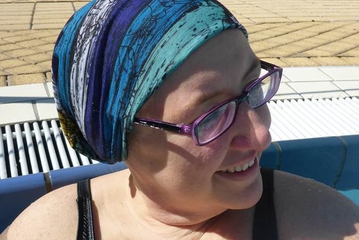 Schwimm-Kopfbeckung schwimmen mit ohne Haare