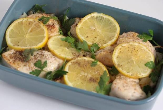 LowCarb - schnelles Zitronen-Hühnchen Rezept