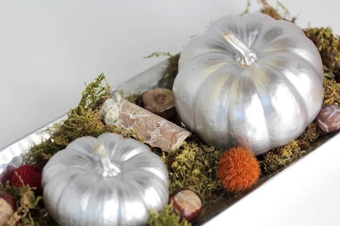 Kürbis-Deko-DIY-Kürbisse bemalt-Dekoration-Herbst