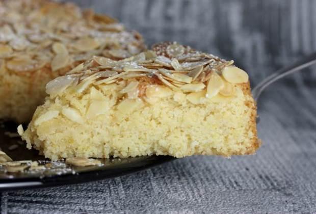 Schwedischer Mandelkuchen-lowcarb-low carb-Mandelkuchen mit Zitrone