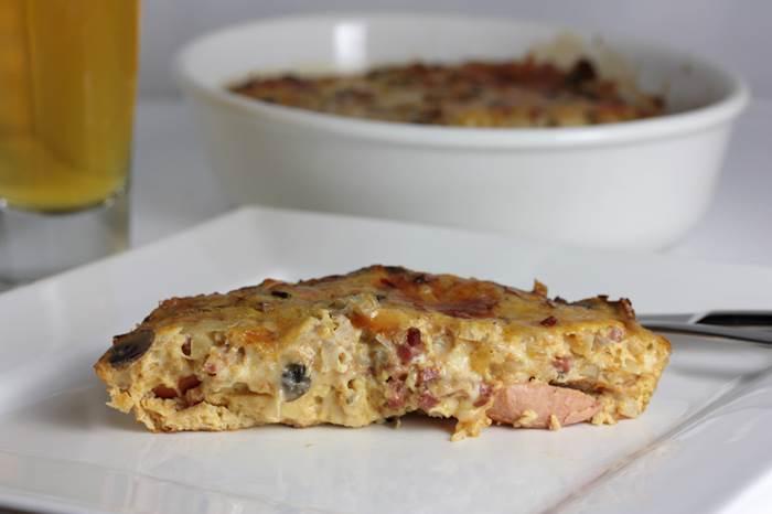 Wiener Würstchen Auflauf low carb-Auflauf-lowcarb-Rezept