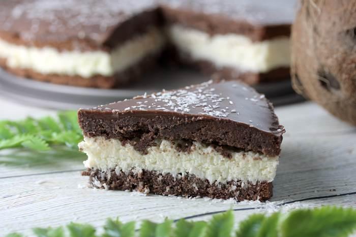 Low Carb Bountykuchen-Bounty lowcarb-Kokoskuchen-Schokolade-Rezept