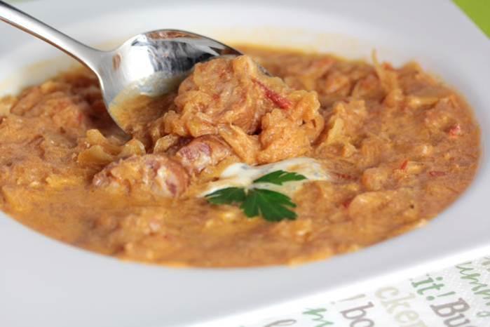 Sauerkraut-Suppe low carb-Sauerkrautsuppe-lowcarb-Rezept