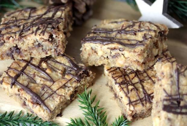 Weihnachtliche Erdnussecken-Low Carb-Rezept