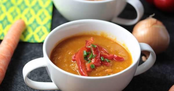 Paprika Karotten Suppe-low carb-lowcarb Rezept
