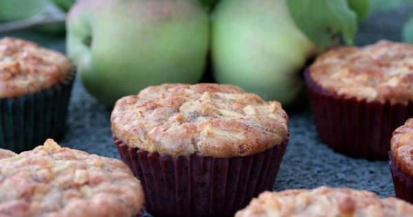 Low Carb-Apfel-Zimt-Muffins-Rezept-Muffins-lowcarb