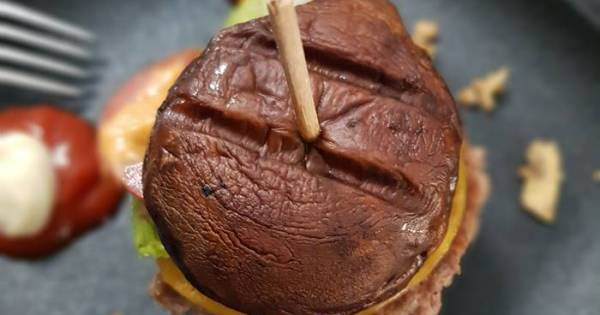Low Carb Burger-George Foremann Smokeless Grill-Indoor Grill