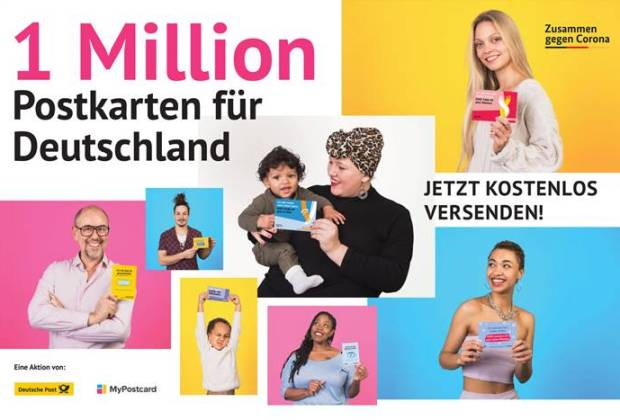 myPostcard-1 Million Postkarten gegen Corona-Aktion