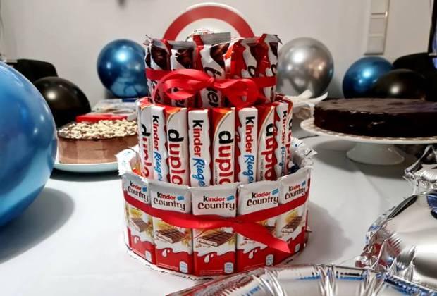 Schokoriegel Torte-Candy Cake-Ferrero