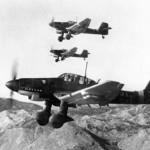 Junkers Ju 87 Stuka in volo sul Montenegro