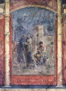 Leucotea allatta il piccolo Dioniso, affresco, 20 d.C., Roma, Palazzo Massimo alle Terme.